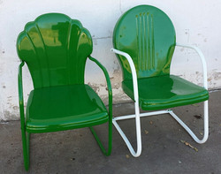 refinishing old lawn chairs