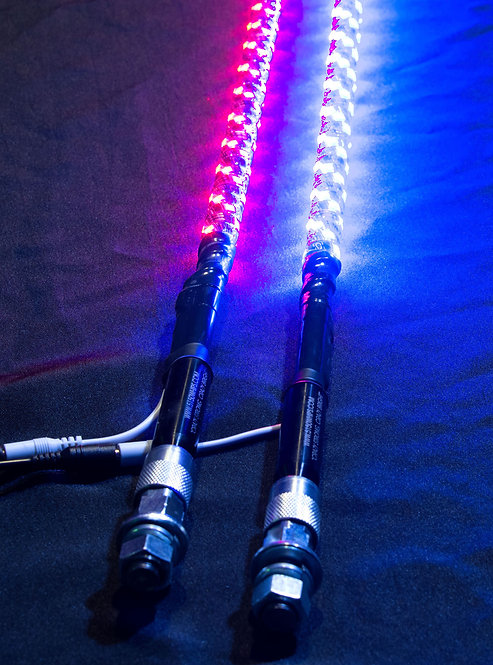 5150 187 4 Foot LED Whip w/Bluetooth w/magnetic base (pair)
