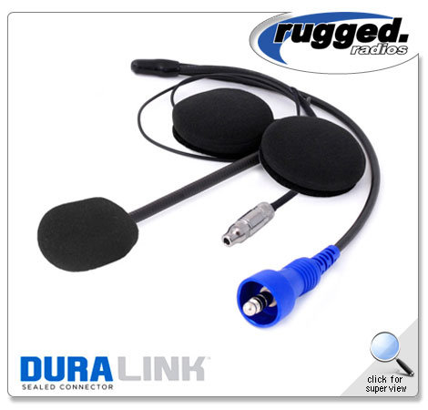 Offroad Helmet Kit with Flex Boom, Helmet Speakers, and 3.5mm Ear Bud Jack