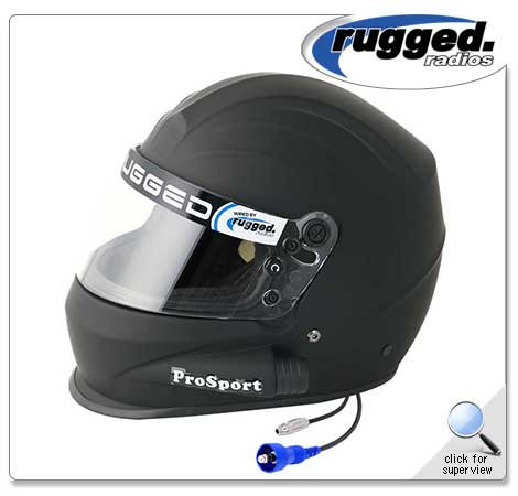 Pyrotect 'Pro Sport' Side Air Helmet with Wired Helmet Kit