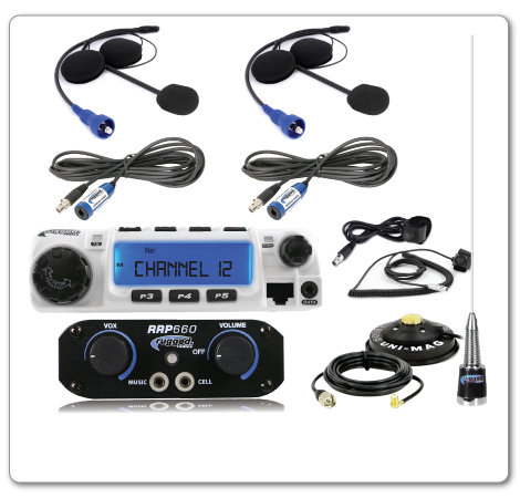 2-Person System with 60-Watt Radio and Helmet Kits