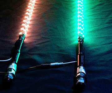 5150 187 6 Foot LED Whip w/Bluetooth w/magnetic base (pair)