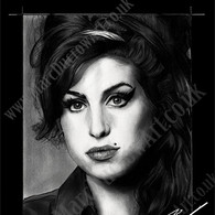 Amy Winehouse black background