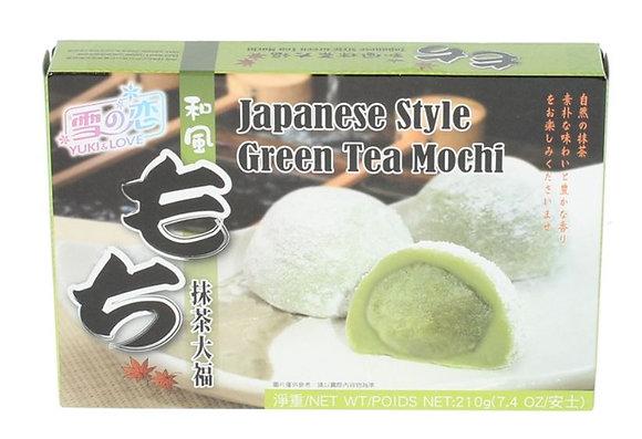Mochi Grüntee Reiskuchen von vorne