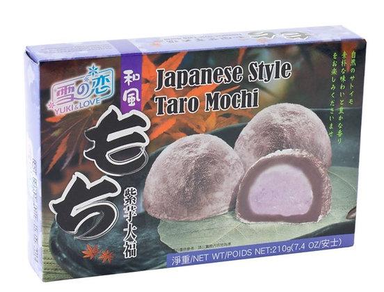 Mochi Taro Reiskuchen in der Verpackung