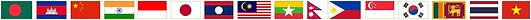 Flaggen der Länder Asiens