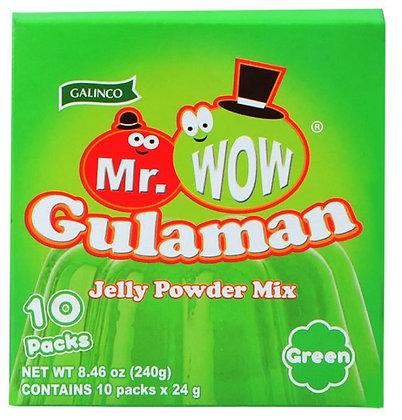 Gulaman in der Verpackung.