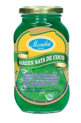 Kokosgel grün in der Verpackung