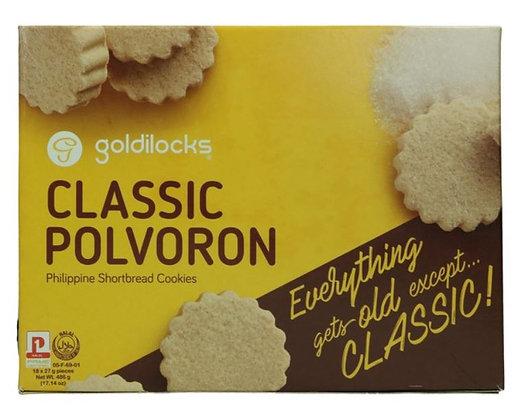 Goldilocks Polvoron in der Kartonverpackung