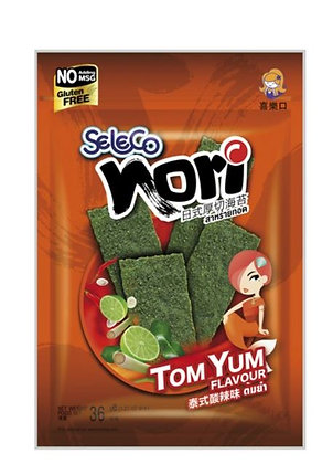 Seetang Snack TomYum in der Verpackung