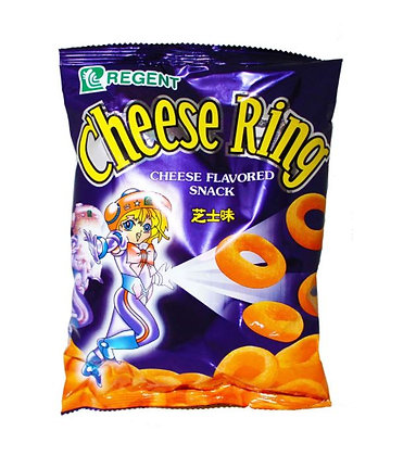 Cheese Ring Crackers in der Verpackung.