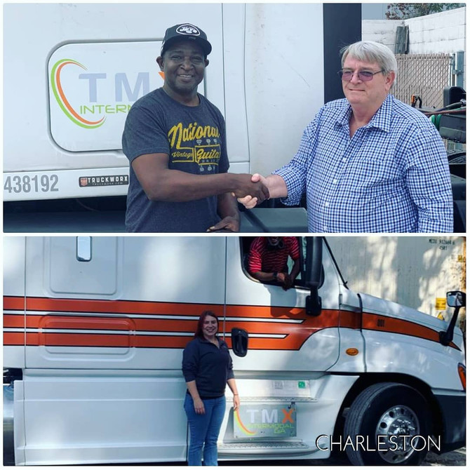 Our office in Charleston SC greeting some of our new drivers.