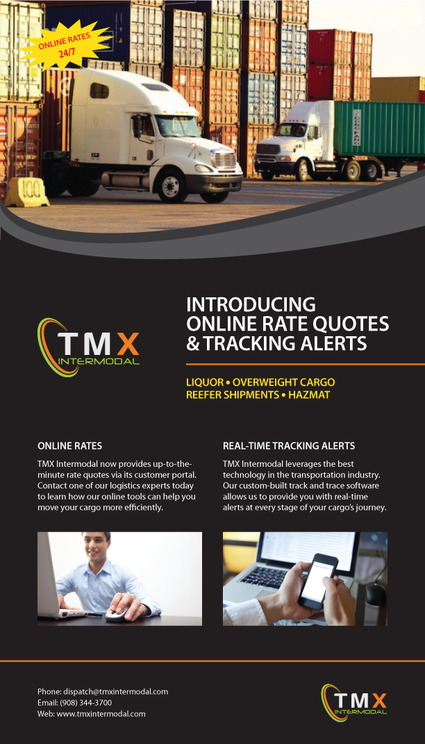 Now ship easier with online rate quotes from TMX Intermodal