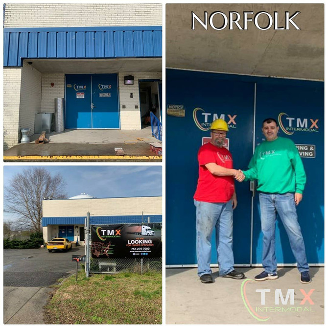 Fernando at our Norfolk office greeting one of our team members.