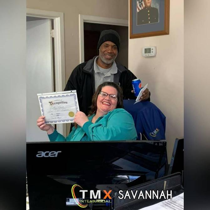 "Congratulations to our Savannah driver LeRay Lovett on achieving a ""Clean Level 3""👏"