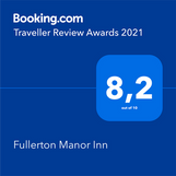 Traveller Review Awards 2021 from Booking.com