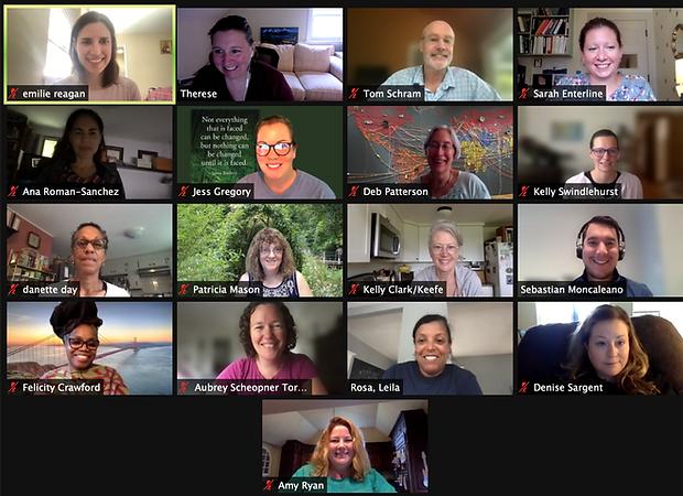 Screenshot of the gallery view of NEERO Board Meeting