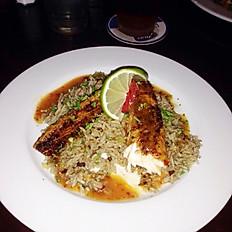 Mahi Over Dirty Rice