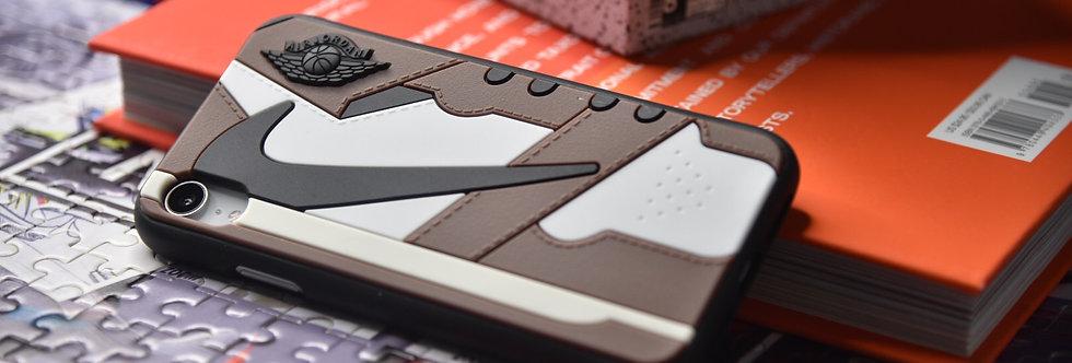 """AJ1 """"Travis Scott"""" 3D Textured iPhone Cases"""