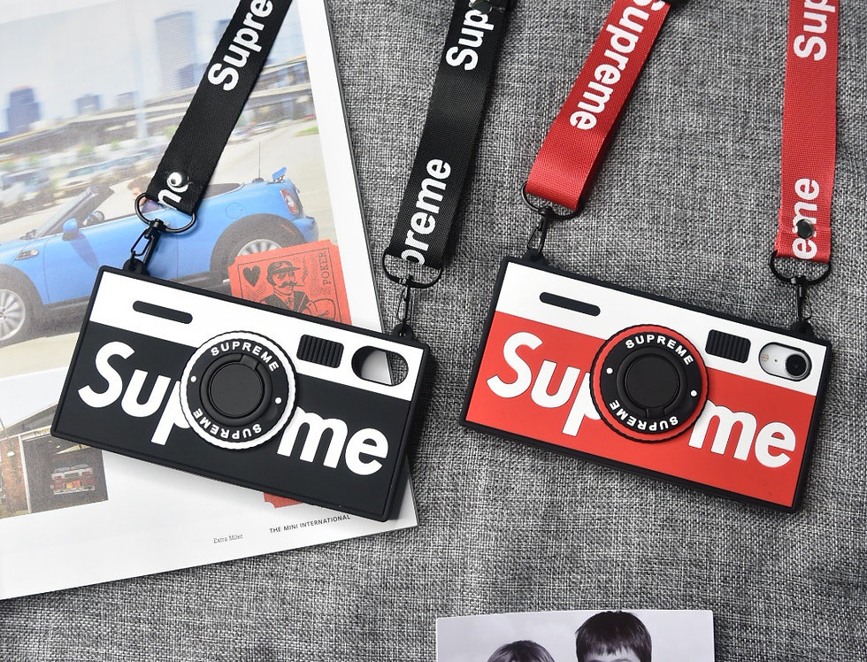 Silicon SUP Inspired Vintage Camera iPhone Case with Strap