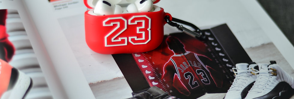 Michael Jordan Inspired Silicon Airpods PRO Case With Hook