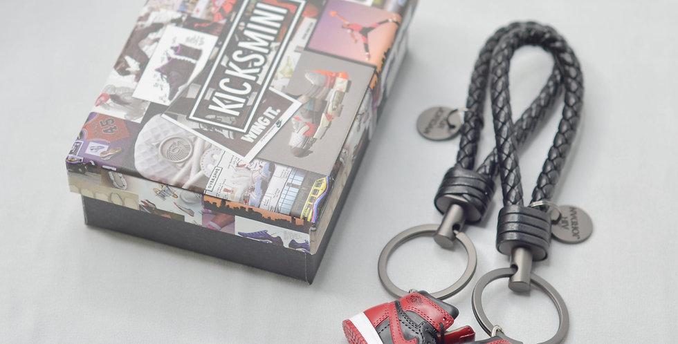 """AJ1 """"Bred/Banned"""" 3D Sneaker Keychain"""