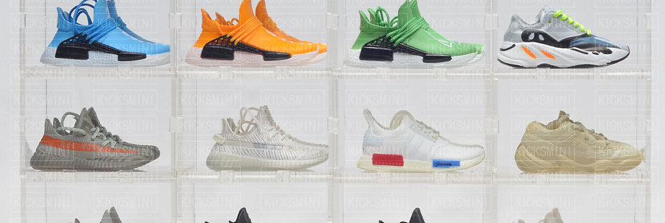 Yeezy NMD Human Mini Sneaker Collection with Display Storage Case