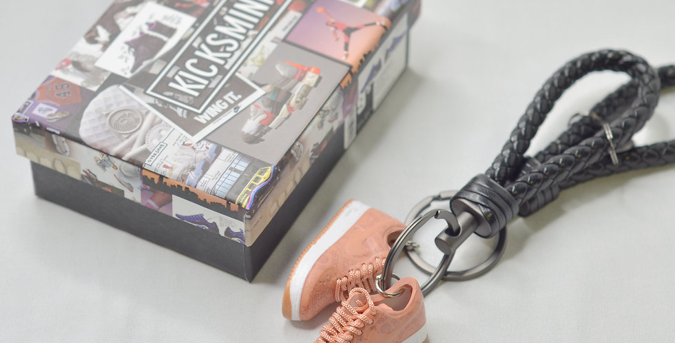 Air Force 1 Low CLOT Rose Gold Silk 3D Sneaker Keychain