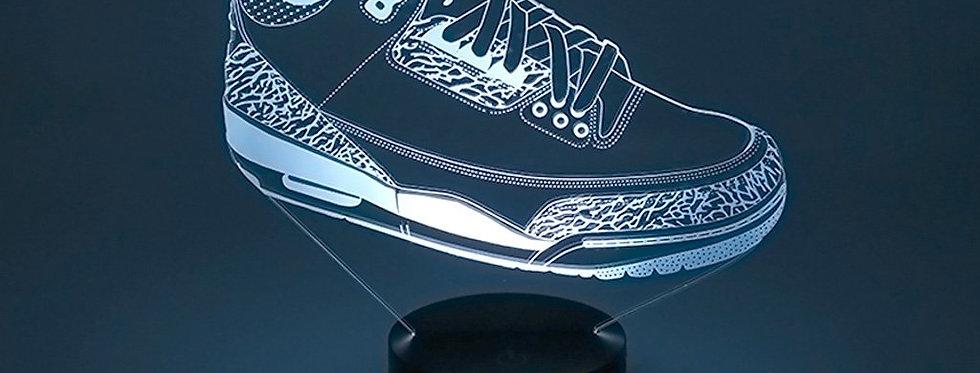 Laser Cut  AJ3  3D Illusion Sneaker LED