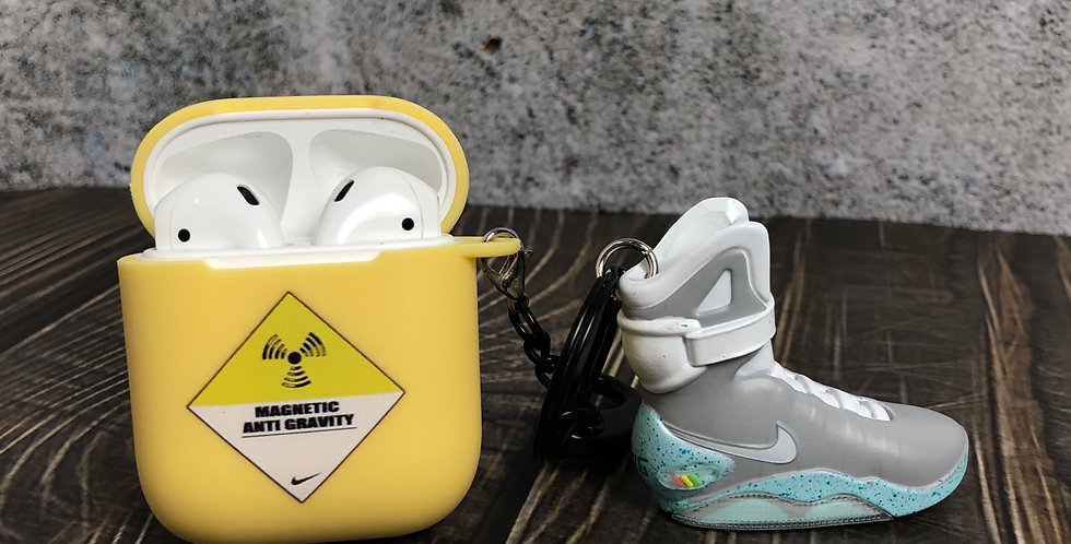 """Air Mags """"Back to Future"""" AirPods Silicone Soft Case with 3D mini Sneakers"""