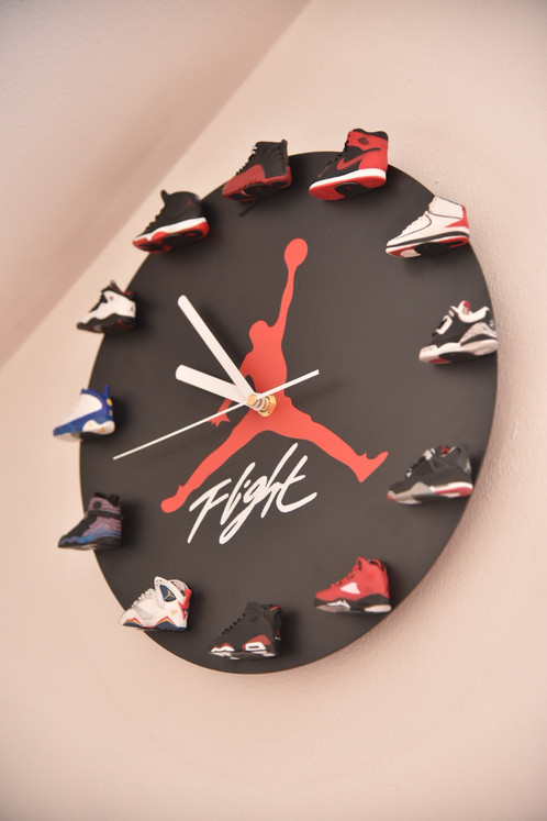 b3cf0066c5fd •The perfect accessories for Air Jordan fanatics. Every hour is signified  with the corresponding Air Jordan numbered 1-12. •What makes this clock  unique