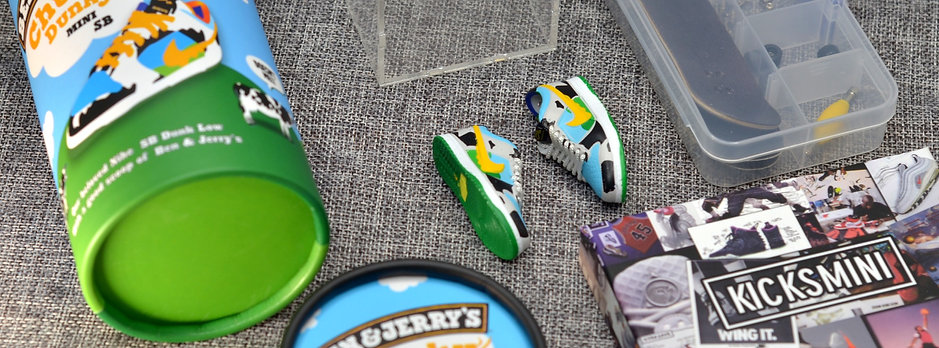 """Complete Fingerboard Set with NIKE SB """"Chunky Dunky"""" and Special Edition Box"""