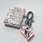"""AJ1  """"Black Toe""""  3D Sneaker Keychain"""