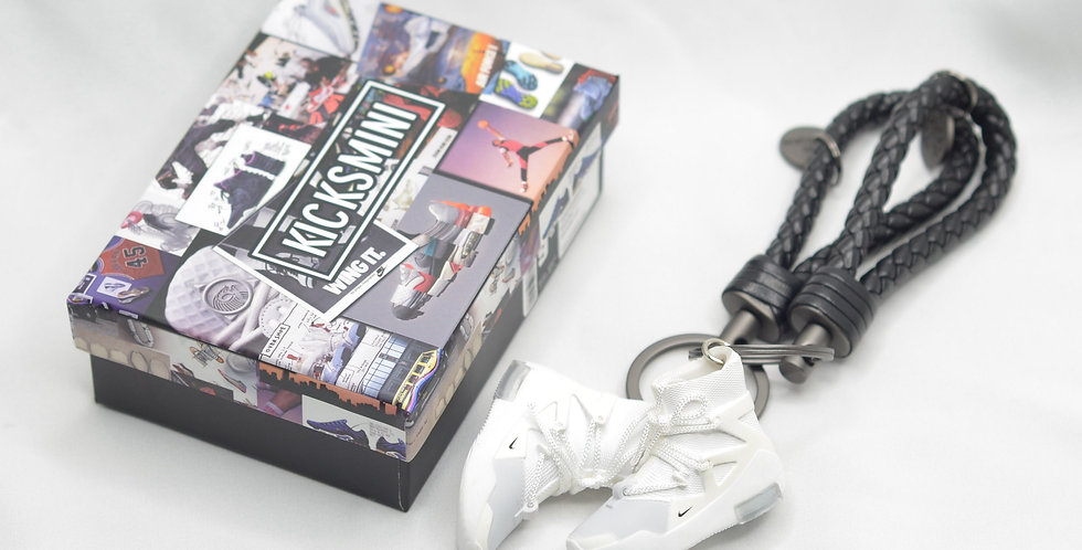 "Nike Air Fear Of God 1 ""Sail"" 3D Sneaker Keychain"