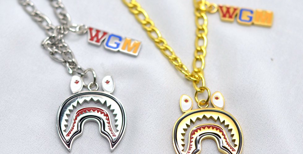 Bape Shark Inspired Pendant Charm Necklace