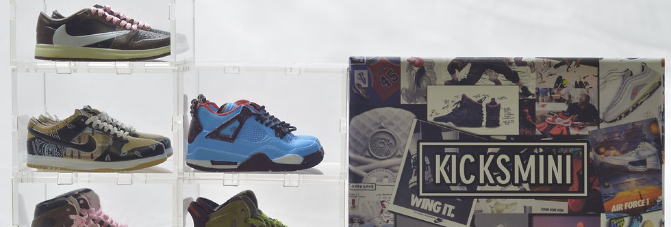 Travis Scott Mini Sneaker Collection with Display Storage Case