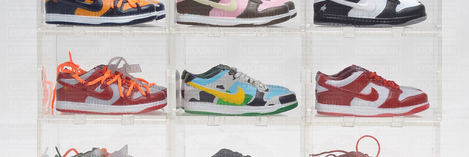 SB Dunk Mini Sneaker Collection with Display Storage Case