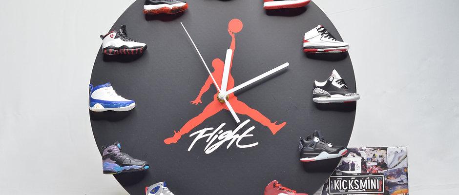 Handcrafted Air Jordans 3D Sneaker Clock with 1-12 Retros Mini Sneakers