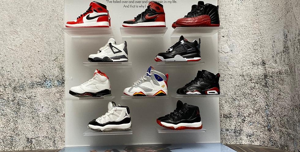 Ultimate Hypebeast Michael Jordan Mini Sneaker Display Set