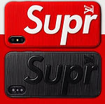 Hypebeast Sup X LV 3D Textured iPhone Cases - Red / White