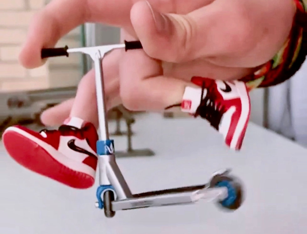 Fingerboard Sneakers Perfect for Finger-boarding and Finger-scootering