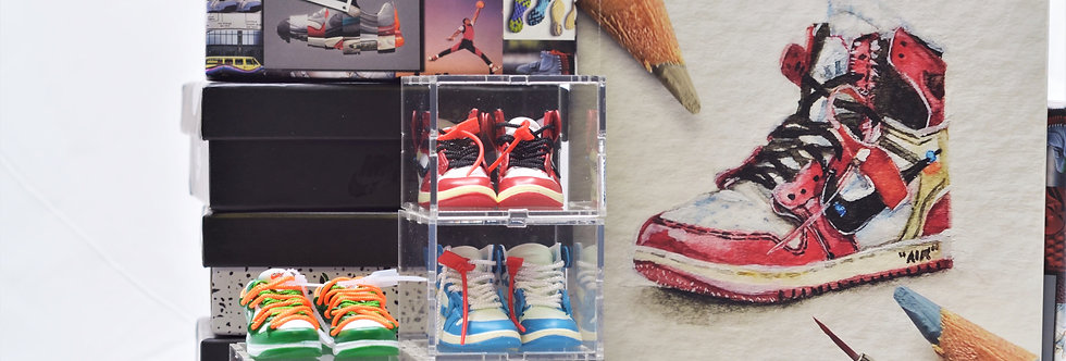 Nike x Off-White Mini Sneaker Collection with Display Storage Case