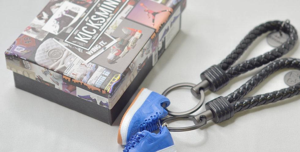 Air Force 1 Low CLOT Blue Silk 3D Sneaker Keychain