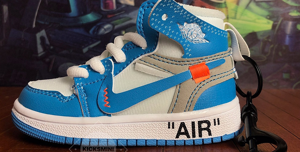 """Handcrafted """"AJ1 OW UNC"""" Bag Charm"""