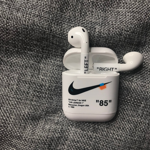 70f3388ef10 Customized Off-White Inspired AirPods Removable Vinyl Skin Wrap Stickers
