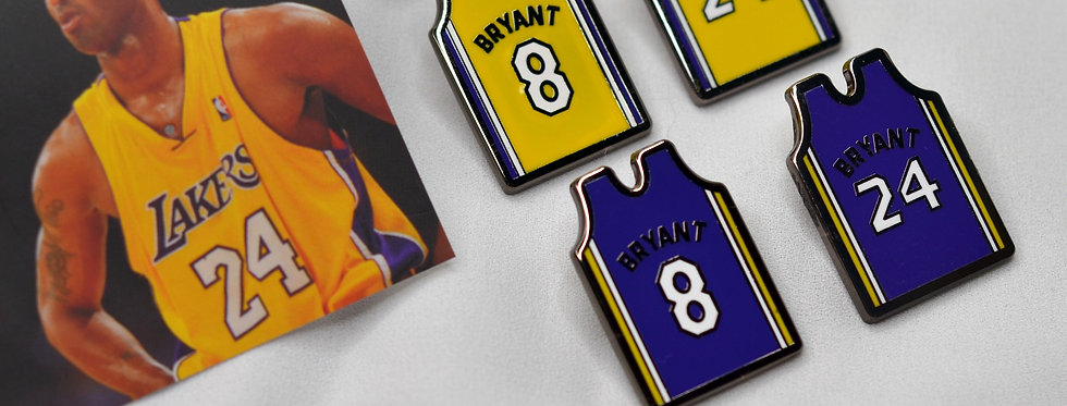 KOBE Jersey 8 and 24 Sneaker Pins
