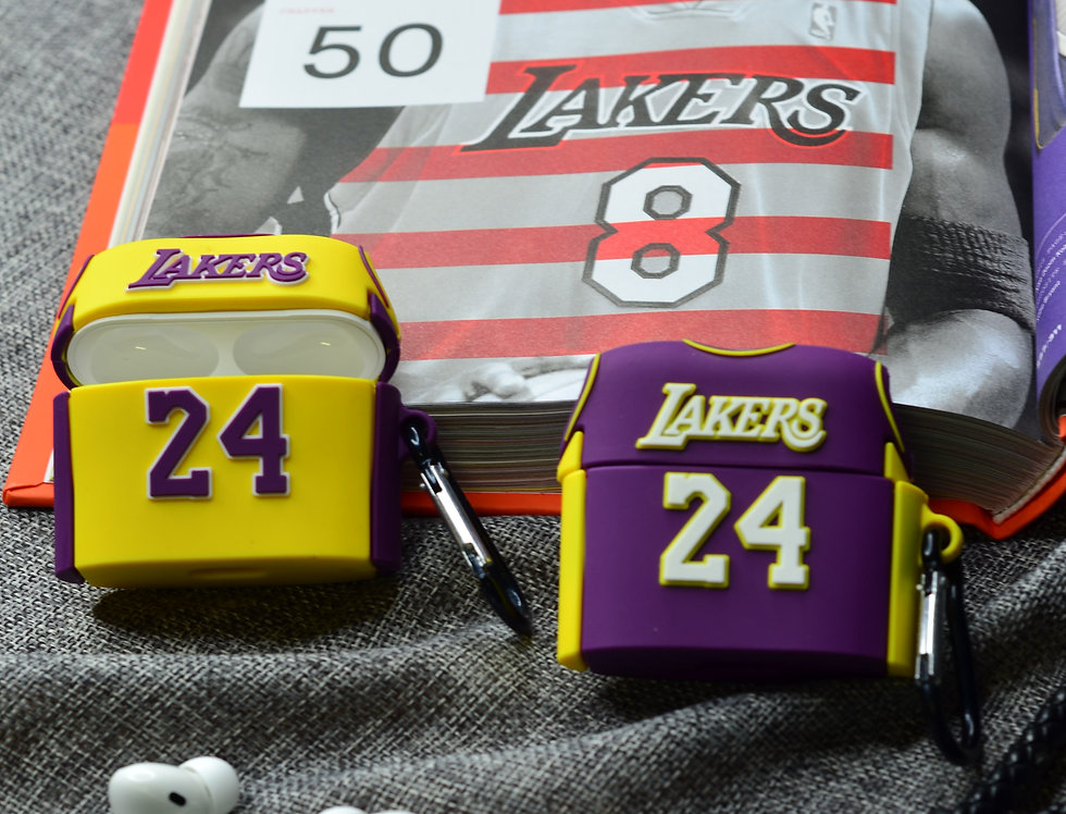 KOBE Lakers 24 Jersey Inspired AirPods PRO Silicon Case Cover