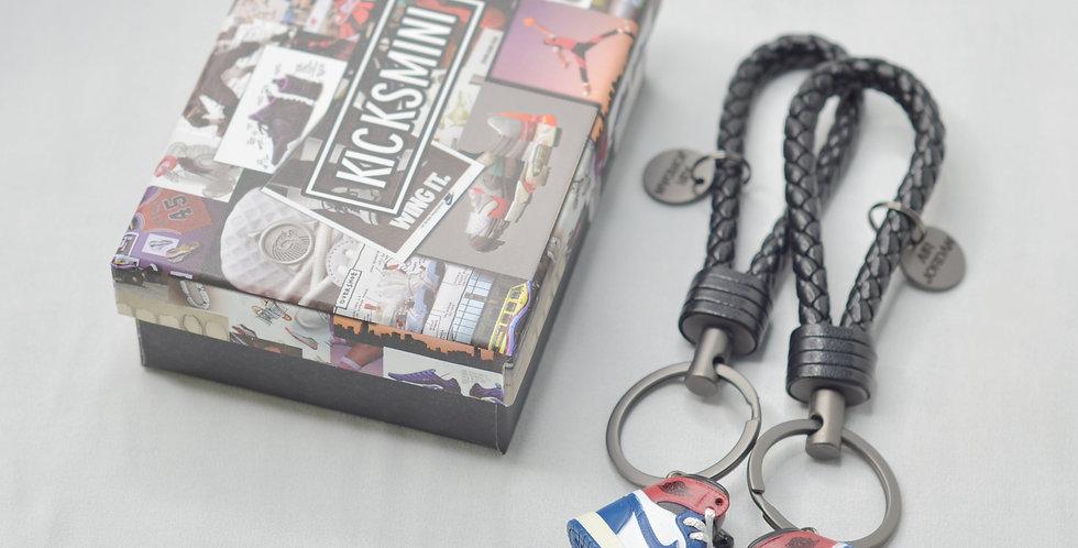 """AJ1  """"Union Los Angels Blue Toe""""  3D Sneaker Keychain"""