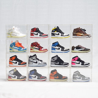 AJ1 Mini Sneaker Collection with Display Storage Case