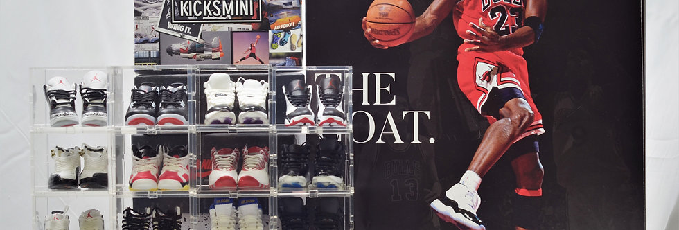 AJ2 - AJ13 Mini Sneaker Collection with Display Storage Case